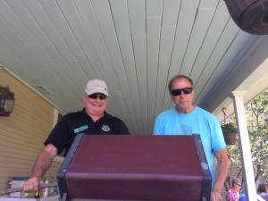 Rick and Bill pour over BBQ